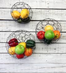 wall hanging sphere wire basket set home decor u0026 lighting