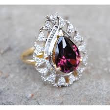 diamond cocktail rings pink drop diamond cocktail ring