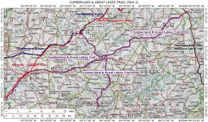 Cumberland River Map Historic Roads Paths Trails West Virginia Tennessee Kentucky