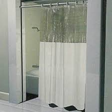 Shower Curtains For Glass Showers Bathroom Window Shower Curtains Foter