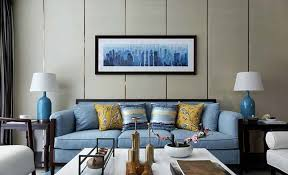 Blue Sofa Living Room Design by Creative Living Balcony Design Real Map Interior Design