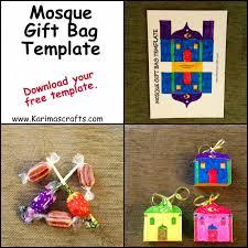 ramadan kids crafts mosque gift bag template ramadan crafts