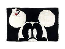 Disney Bath Rug Disney Mickey Mouse Bath Rug Black Dis 9661 Jf00514wcd Ebay