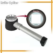 10x magnifying glass with led light metal handle magnifier with scale handheld magnifying glass 10x