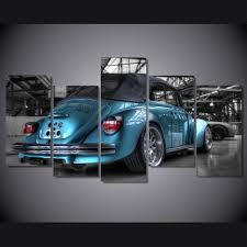 blue volkswagen convertible lowered blue volkswagen bug beetle convertible canvas print ash