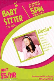 babysitting poster templates postermywall