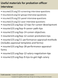 Example Of An Excellent Resume by Probation Officer Resume 21573