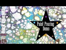 acrylic paint pouring demo fluid painting mixing ratios explained
