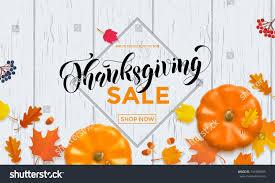 thanksgiving sale web banner big seasonal stock vector 741906895