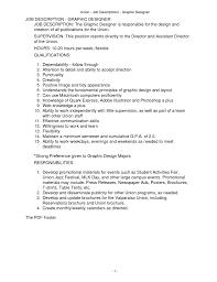 Resume Job Description Sample Graphic Designer Description For Resume Resume For Your Job