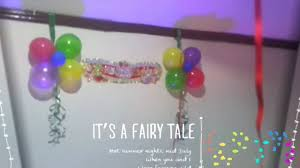 Decoration Ideas For Birthday Party At Home Birthday Decoration Ideas At Home With Balloons Youtube