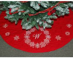 snowflake wreath personalized tree skirt gift