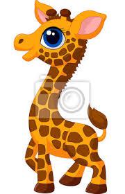 imagenes de jirafas bebes animadas para colorear fotomural lindo bebé jirafa de dibujos animados pixers vivimos