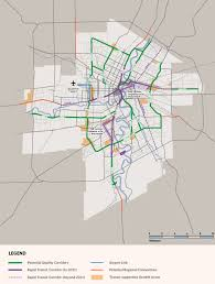 Winnipeg Map City Plan Calls For Four Rapid Transit Corridors By 2031