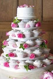 Cupcake Wedding Cake Cake And Cupcake I Like This Idea For A Birthday Party