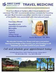 Firstcare medical centers llc travel medicine flyer