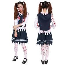 Scary Women Halloween Costumes Halloween Costumes Accessories Necktie Zombie Student Scary
