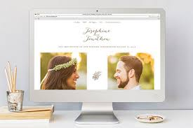 our wedding website minted wedding websites