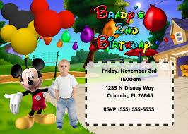 Birthday Invitation Card For Baby Boy Mickey Mouse And Mickey Mouse Clubhouse Birthday Invitations