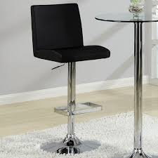 Glass Bar Table And Stools Glass Top Bar Table Set With Adjustable Black Stools Coaster