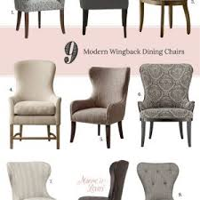 furniture awesome purple wingback dining chair for elegant dining