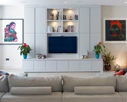 Wall Mounted Living Room Furniture Living Room Contemporary Living Room Idea In With A Wall Mounted