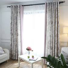 purple floral jacquard polyester custom elegant curtains and drapes
