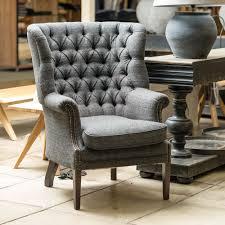 Tweed Armchair Buy Mackenzie Tweed Wing Chair Furniture Made To Order Burford
