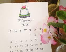 Small Easel Desk Calendar Small Calendar Etsy
