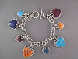 bracelet with hearts images Colorful heart link bracelet by desiree yellowhorse bracelet jpg