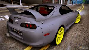 toyota supra modified toyota supra twin turbo for gta san andreas