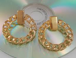 90 s earrings 90s hip hop chain hoop pierced earrings hip hop chains 1990s