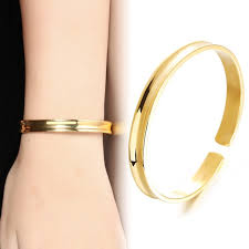 metal allergy jewelry women bangles gold color fashion jewelry metal bracelets
