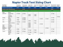 nissan frontier king cab bed size sportz tent 57 series by napier enterprises