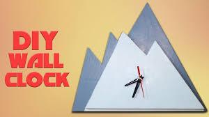 diy wall clock in mountain shape cardboard clock craft for kids