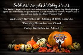 soldiers soldiers thanksgiving hours