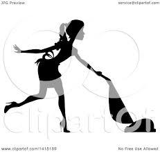 Vacuuming Royalty Free Rf Clipart Illustration Of A Retro Woman