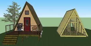 14 x14 tiny a frame cabin plans by lamar