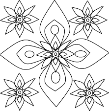 best solutions of rangoli coloring pages to print in free