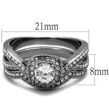 stainless steel wedding ring sets halo design stainless steel wedding ring set