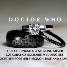 dr who wedding ring best doctor who tungsten rings products on wanelo
