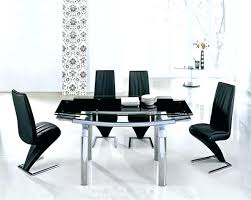 Glass Dining Table For 6 Extending Dining Table 6 Chairs Dining Room Set Showcasing