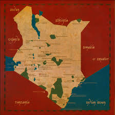 Map Of Kenya Africa by Kenya