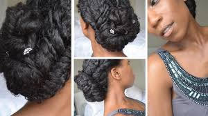 natural hair after five styles elegant fishtail braid updo natural hair youtube