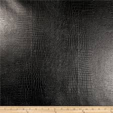 Black Upholstery Leather Richloom Faux Leather Reptile Black Discount Designer Fabric
