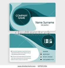 Easy Business Card Design Blue Business Card Design Layout Template Stock Vector 587621384