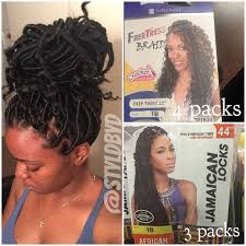 different images of freetress hair so the hair above is what i recommend 4packs freetress deep twist