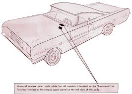 1934 to 1951 chevrolet paint charts and color codes
