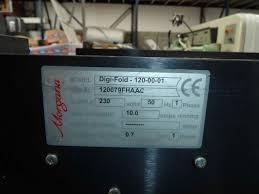 folders used finishing machines morgana digifold creasing