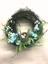 hydrangea wreath 12 blue hydrangea wreath with nest from the baby blues hydrangea